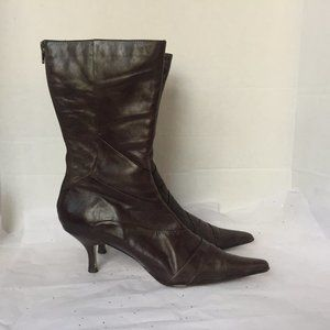 Aldo Brown Pointy MId-Calf Boot -super soft! 9 M